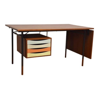 Original Finn Juhl Model Bo-69 Teak Desk For Sale
