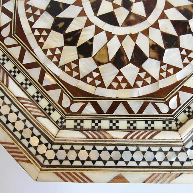 Moroccan Inlay Side Table - Image 4 of 4