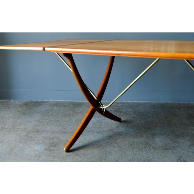 Hans Wegner for Andreas Tuck Model At-304 Dining Table, Circa 1955 For Sale In Los Angeles - Image 6 of 13