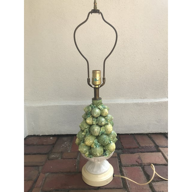 Hollywood Regency Italian Lemons and Limes Topiary Lamp For Sale - Image 3 of 10