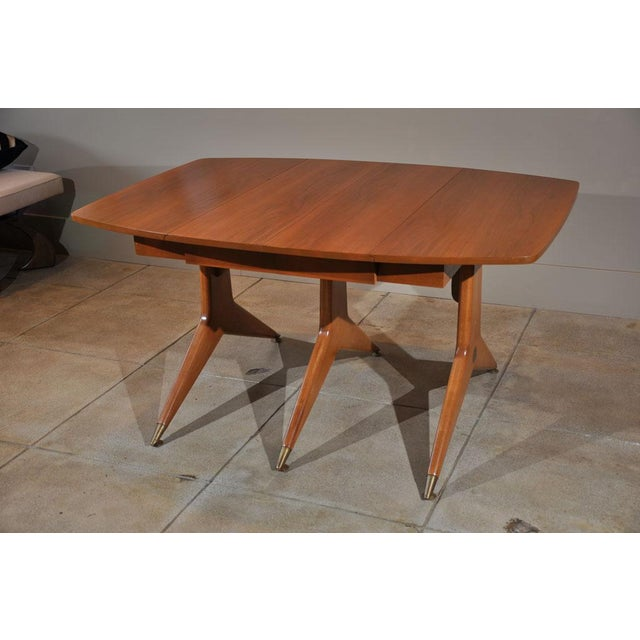 1950s Mid-Century Modern Drop Leaf Table For Sale In Los Angeles - Image 6 of 9