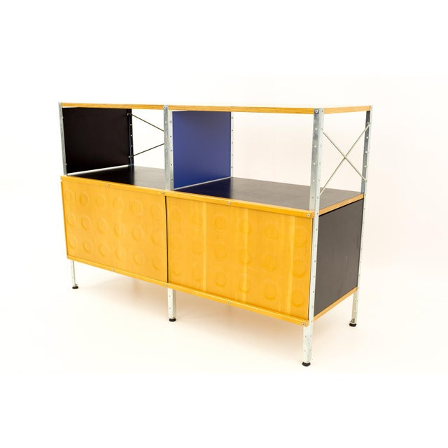 Charles and Ray Eames for Herman Miller ESU storage unit shelves 2x2 with doors. Excellent condition.