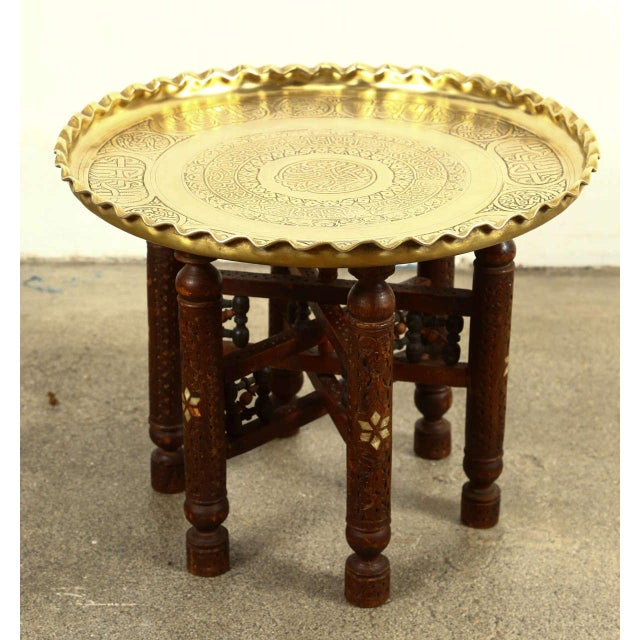 Moorish Brass Tray Side Table For Sale - Image 10 of 10