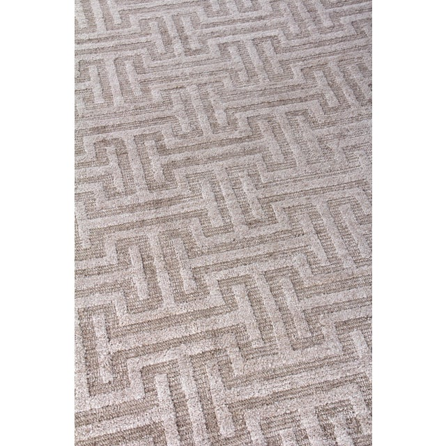Exquisite Rugs Bazas Handwoven Cotton & Viscose Beige - 12'x15' For Sale In Los Angeles - Image 6 of 8