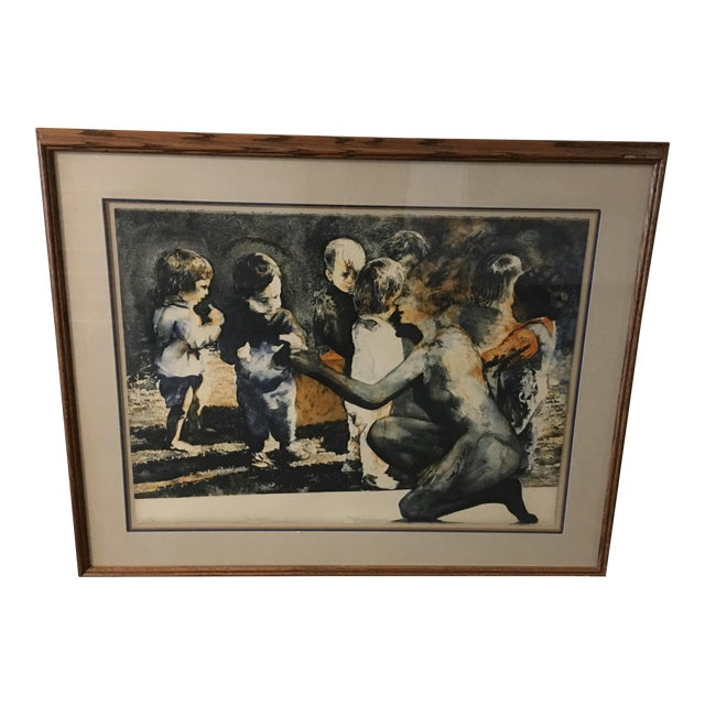 """""""The Gift"""" Ruth Weisberg Lithograph For Sale"""