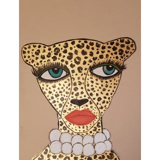 """""""Glam Cheetah II"""" Contemporary Drawing For Sale"""