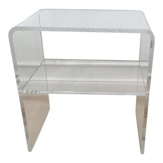 Modern Acrylic Waterfall Side Table For Sale