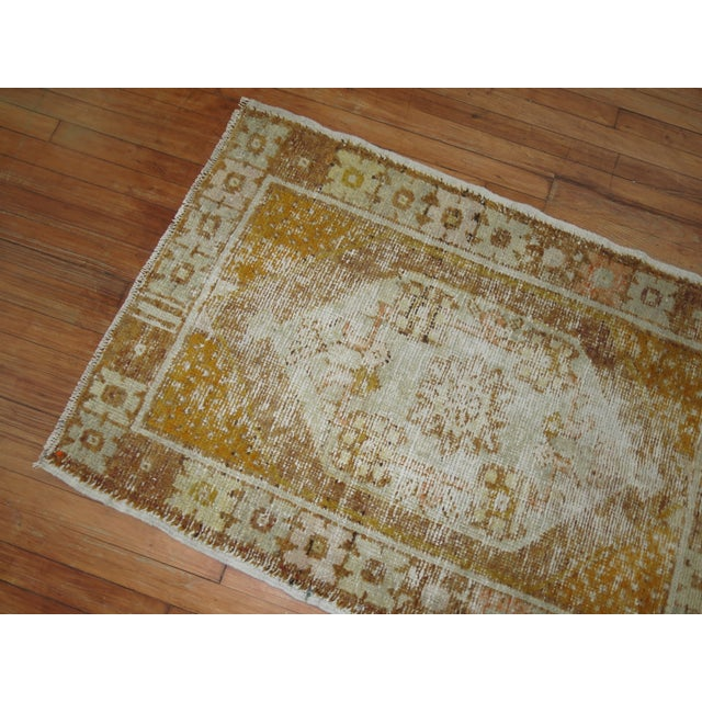 1930s Distressed Turkish Anatolian Rug, 2'11'' x 4'3'' For Sale - Image 5 of 5