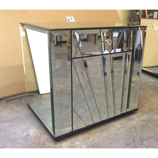 Ello Mirrored Nightstands Side Tables - Pair For Sale - Image 5 of 6