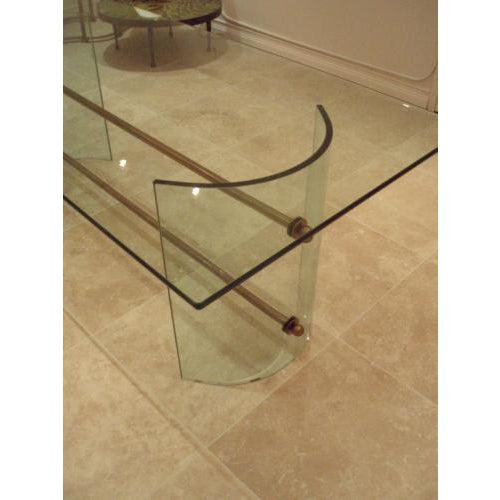 Mid-Century Modern Pietro Chiesa for Fontana Arte Rare All Crystal Dining Table For Sale - Image 3 of 4