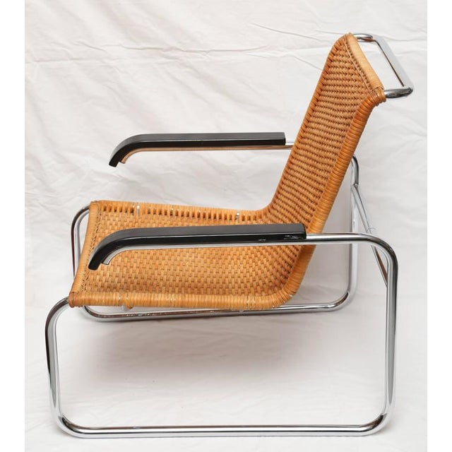Marcel Breuer Marcel Breuer for Thonet B35 Rattan Lounge Chair with Changeable Armrests For Sale - Image 4 of 9