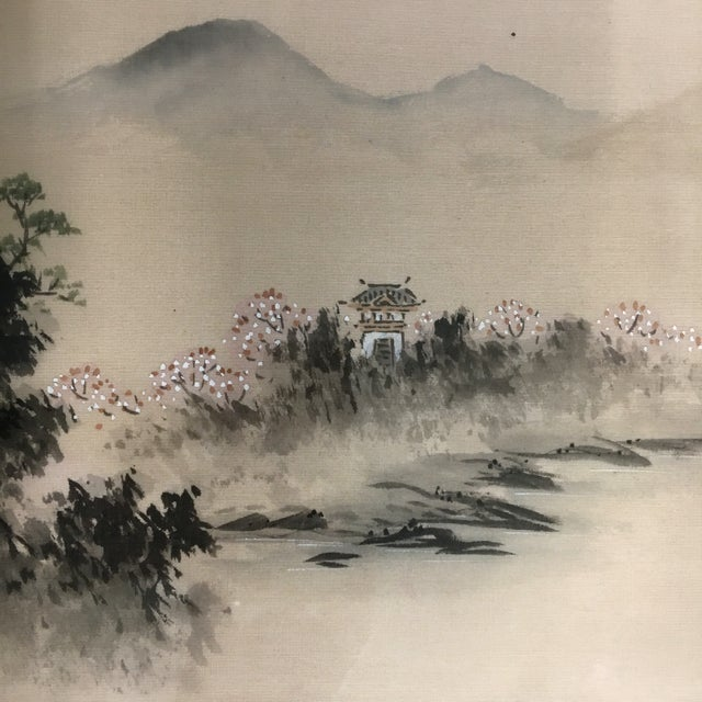Vintage Framed Asian Silk Painting - Image 3 of 6