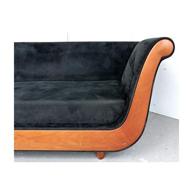 Blue Biedermeier Style Italian Modern Sofa For Sale - Image 8 of 9