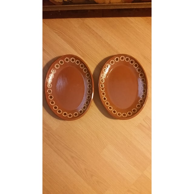 Rustic Mexican Tlaquepaque Platters - Set of 2 For Sale - Image 3 of 6