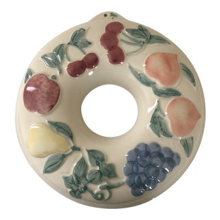 Vintage 1980s Hartstone Pottery Large Round Ring Hanging For Sale