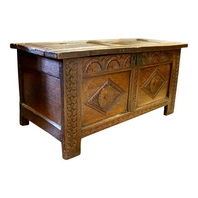 English Oak Coffer For Sale