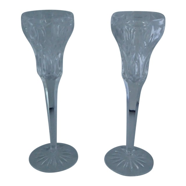Elegant Marquis by Waterford Canterbury Candlesticks S/2 - Image 1 of 7