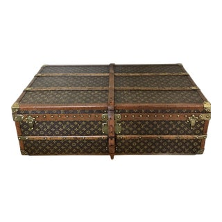 1920's Vintage Louis Vuitton Rolling Steamer Trunk