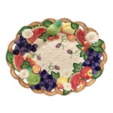 Image of Vintage Fitz and Floyd Fruit Motif Bowl For Sale