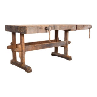 Vintage Carpenters Work Bench For Sale