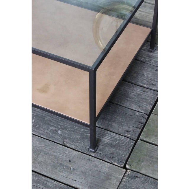 Custom-Made Marcelo Coffee Table with Clear Glass Top For Sale - Image 4 of 9