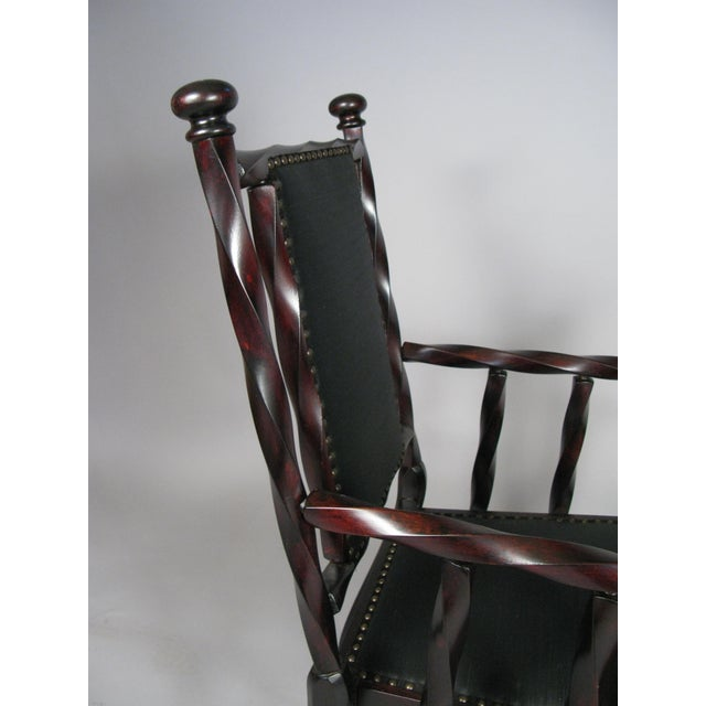 Late 19th Century Barley Twist Armchair by George Hunzinger For Sale - Image 5 of 7