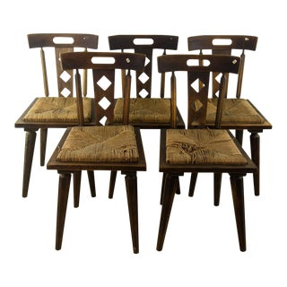 American Arts and Crafts Chairs, 1920 - Set of 5