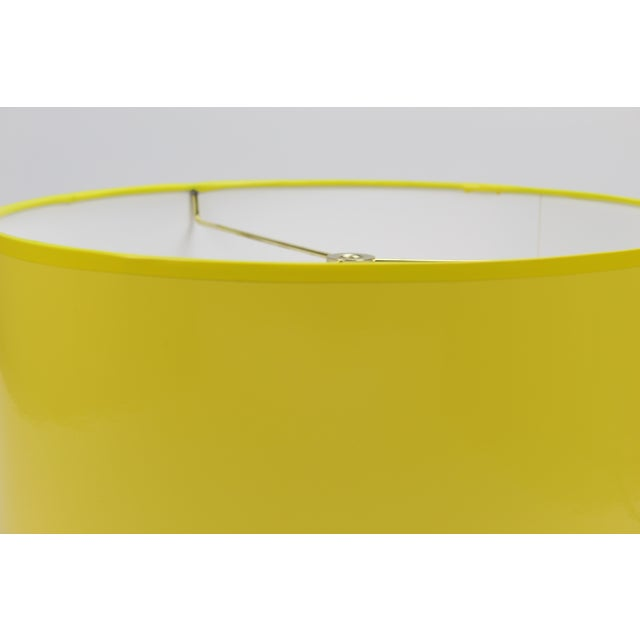 High Gloss Yellow Drum Lamp Shade For Sale - Image 6 of 7