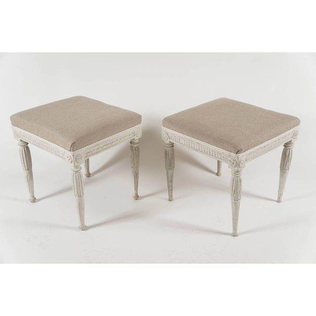 Late 18th Century Swedish Gustavian Period Painted Stools, Circa 1790 For Sale - Image 5 of 10