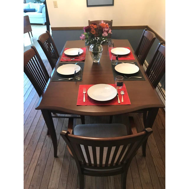 Richardson Brothers Solid Wood Dining Set - Image 4 of 11