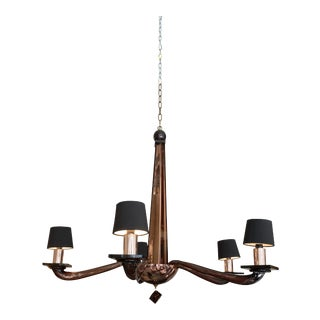 Donghia Murano Stellare Long Chandelier Amethyst For Sale