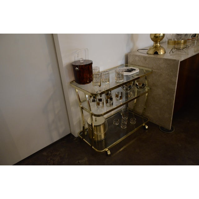 DIA Three-Tier Brass and Glass Bar, Drinks, Tea or Service Cart /Trolley - Image 11 of 11