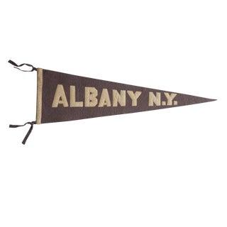 Antique Albany Ny Felt Flag Pennant For Sale