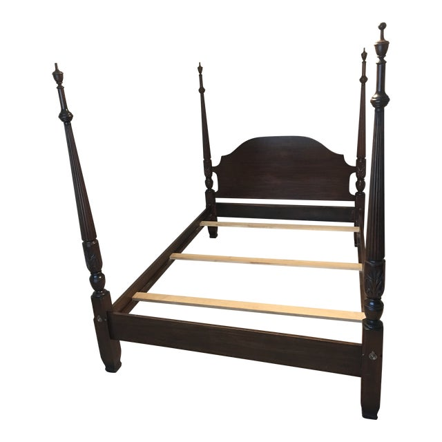Harden Solid Cherry Four Poster Queen Bedframe For Sale