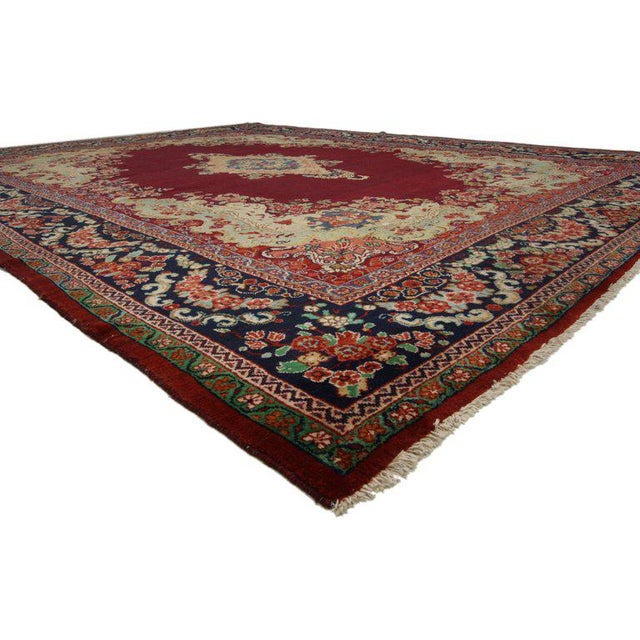 Islamic Vintage Mid-Century Persian Mahal Rug - 10′5″ × 13′7″ For Sale - Image 3 of 5