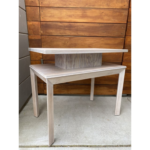 Paul Frankl Whitewashed Side Table by Paul Frankl For Sale - Image 4 of 13