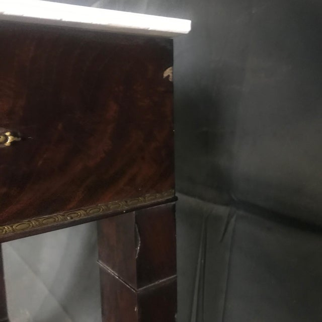 Ornate Lavish Charles X Mahogany Empire Dressing Table For Sale In Portland, ME - Image 6 of 13