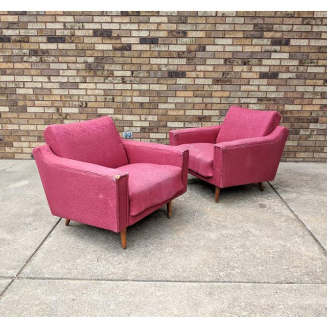 1960s Mid Century Modern Lawrence Peabody Style Lounge Chairs - a Pair For Sale In Chicago - Image 6 of 10