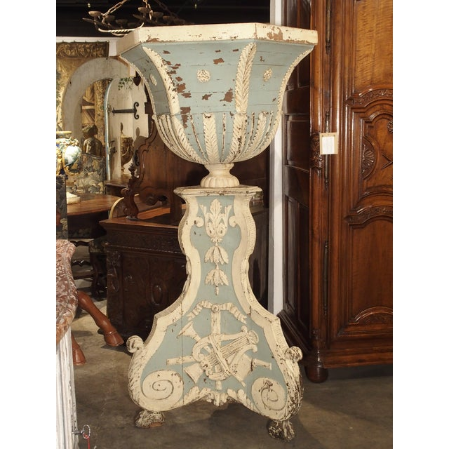 Large and Unique 18th Century Painted Wooden Jardiniere From Bruges For Sale - Image 13 of 13