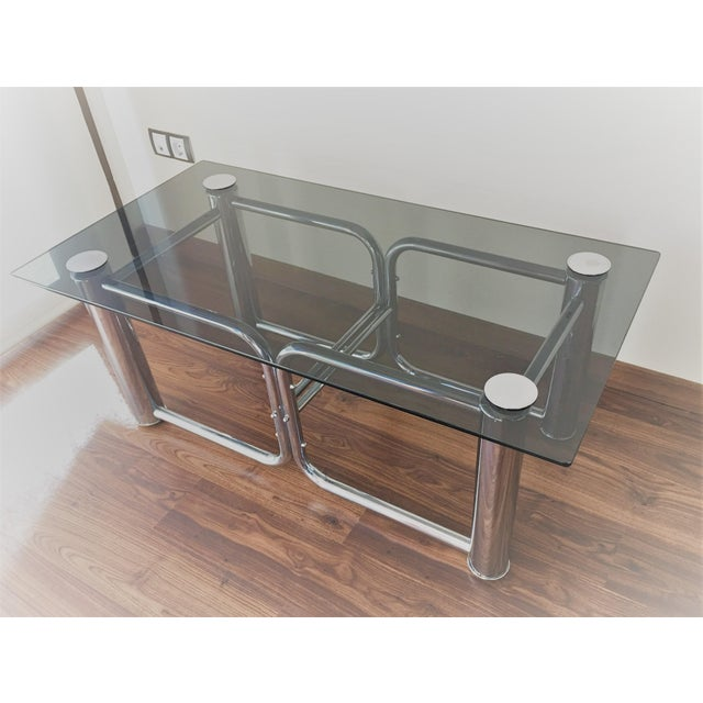 Mid-Century Modern Chrome Coffee Table - Image 5 of 11