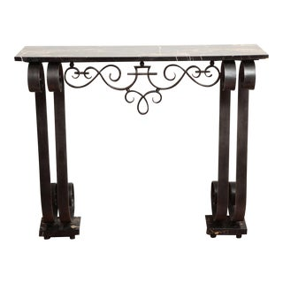 Art Deco Wrought Iron Console For Sale