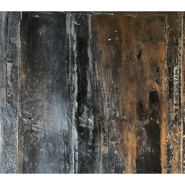Lacquer Vintage Rustic Chinese Low Media Cabinet For Sale - Image 7 of 10