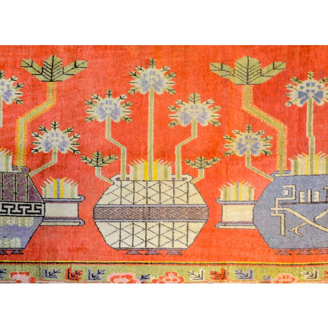 Wonderful Early 20th Century Samarkand Rug For Sale - Image 4 of 8