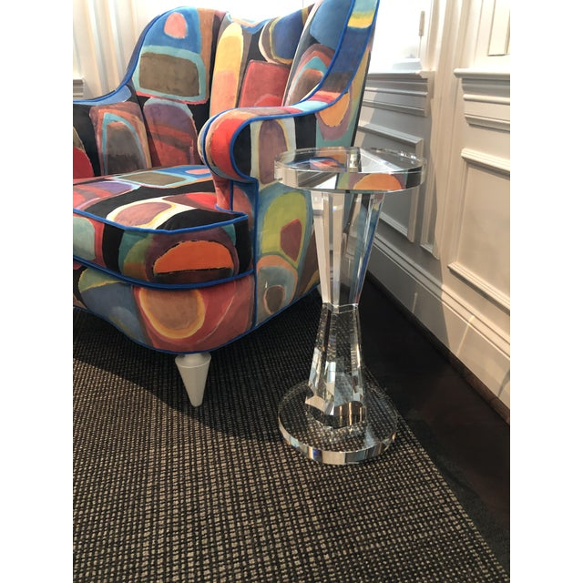 Contemporary Solid Crystal Side Table For Sale - Image 4 of 8