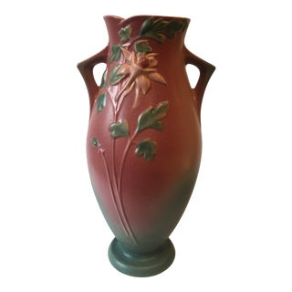 Roseville Pink Columbine Vase For Sale