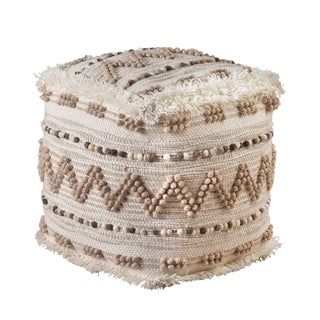 Devi Woven India Pouf For Sale