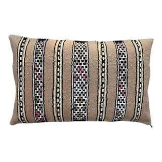 Ornate Stripes Moroccan Berber Pillow For Sale