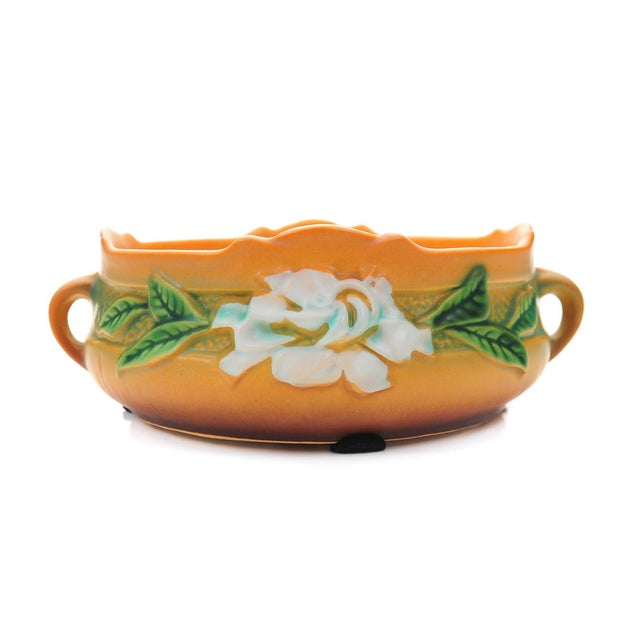 Art Deco Antique Roseville Pottery Bowl For Sale - Image 3 of 10