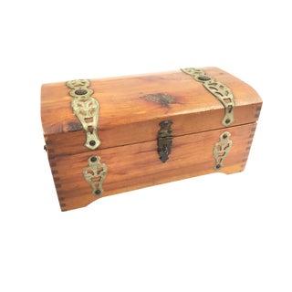 "Vintage McGraw Box Co. ""Mary Lu"" Wood Jewelry Box"