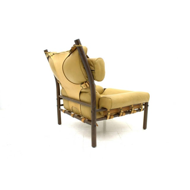 "Arne Norell Lounge Chair ""Inca,"" Leather, Sweden, 1965 For Sale - Image 6 of 6"